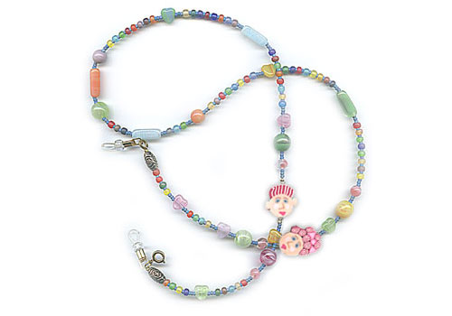 Pastel Face Necklace
