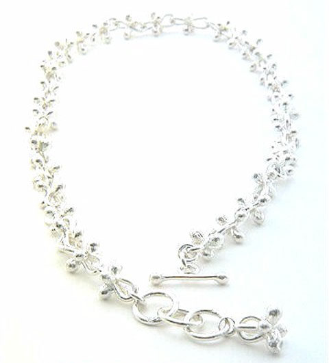 Saoric Large Silver Necklace