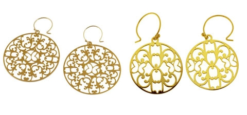 Baroque Vermeil Silver Earrings