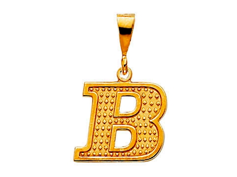 gold pendants for men. Biker Gold Initial Pendant