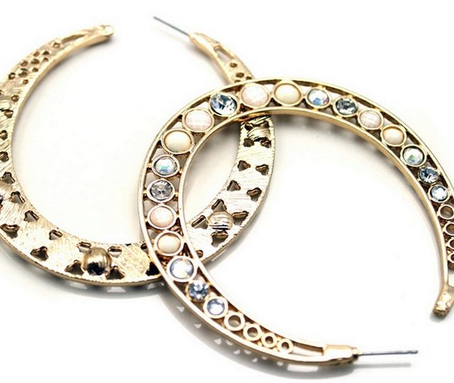 Fashion Gold Hoop Earrings