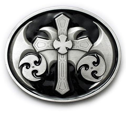 Gothic Cross Belt Buckle