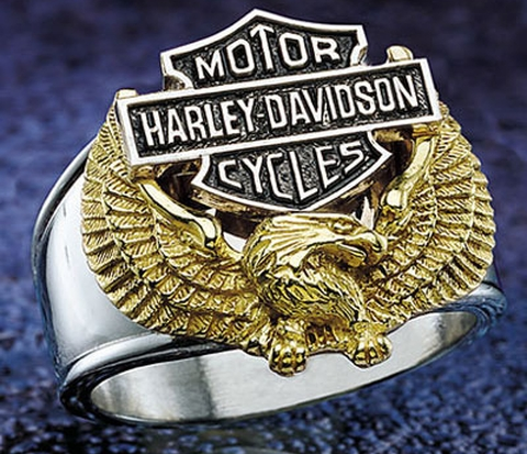 Harley Wings of Freedom Ring