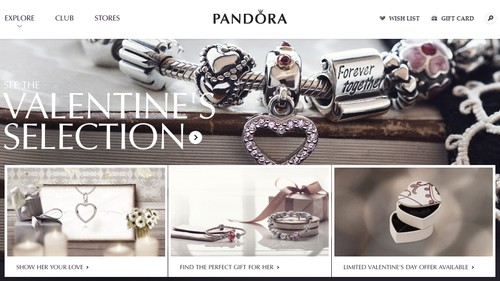 Pandora Jewelry Valentine's Collection