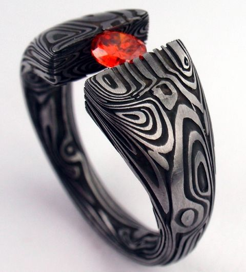 Ruby Stainless Steel Ring