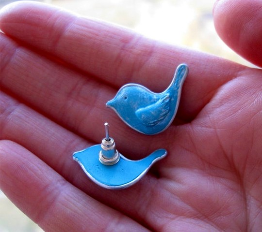 Twitter Style Earrings