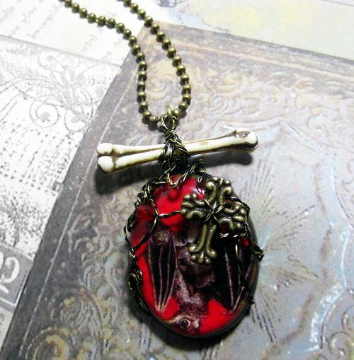 Vampire Gothic Cross Necklace