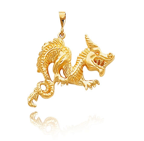 Yellow Gold Dragon Pendant